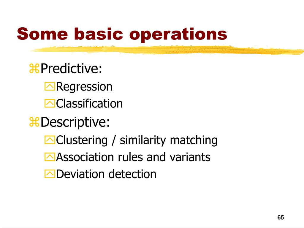 Some basic operations