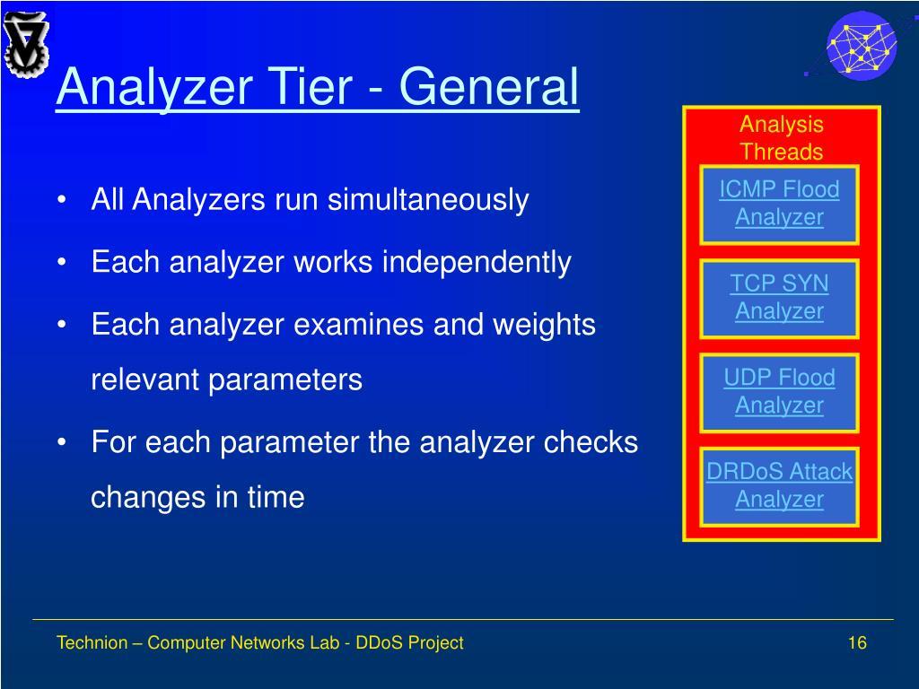 Analyzer Tier - General