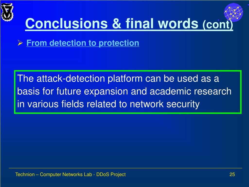 Conclusions & final words