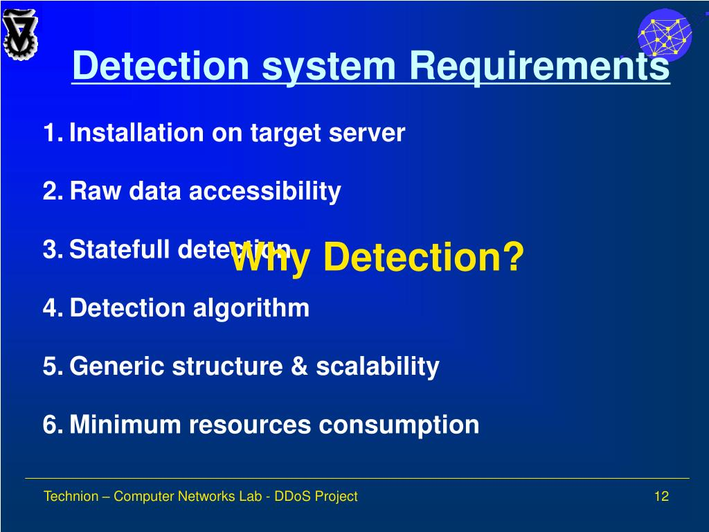 Detection system Requirements