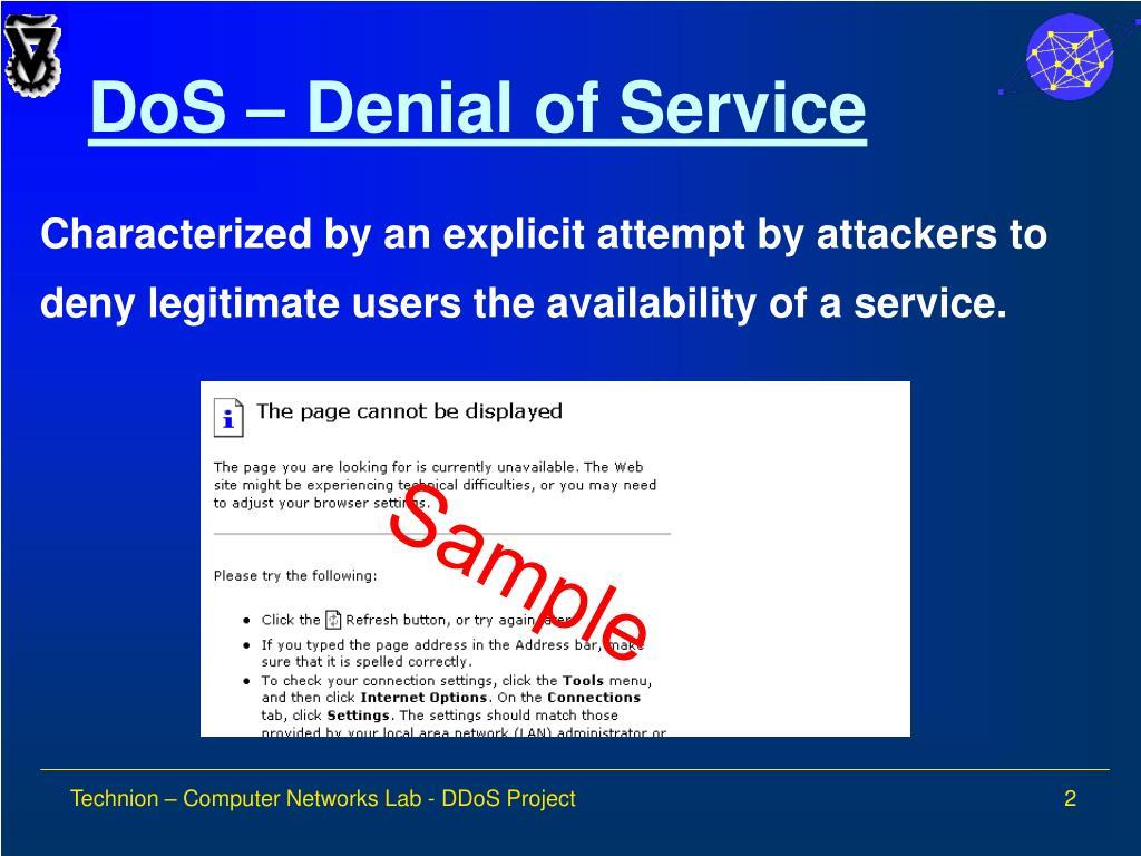 DoS – Denial of Service
