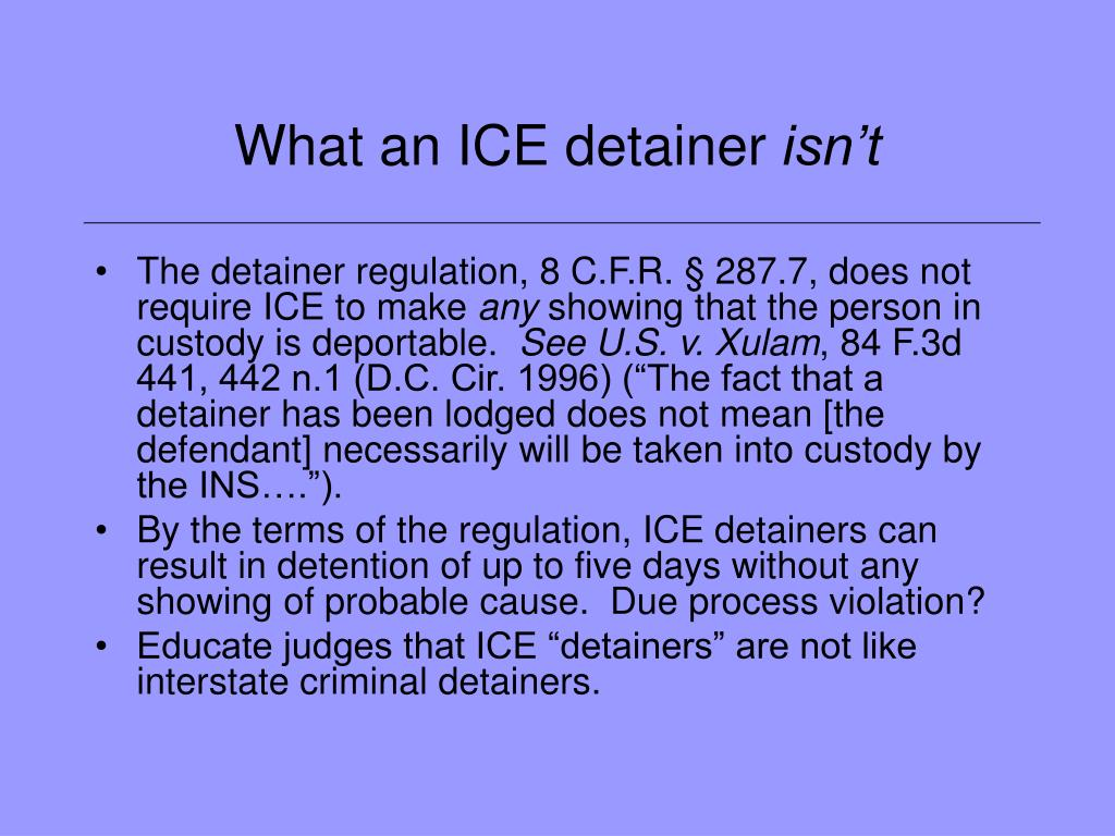 What an ICE detainer