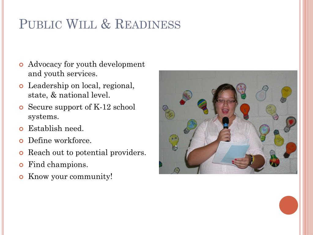 Public Will & Readiness