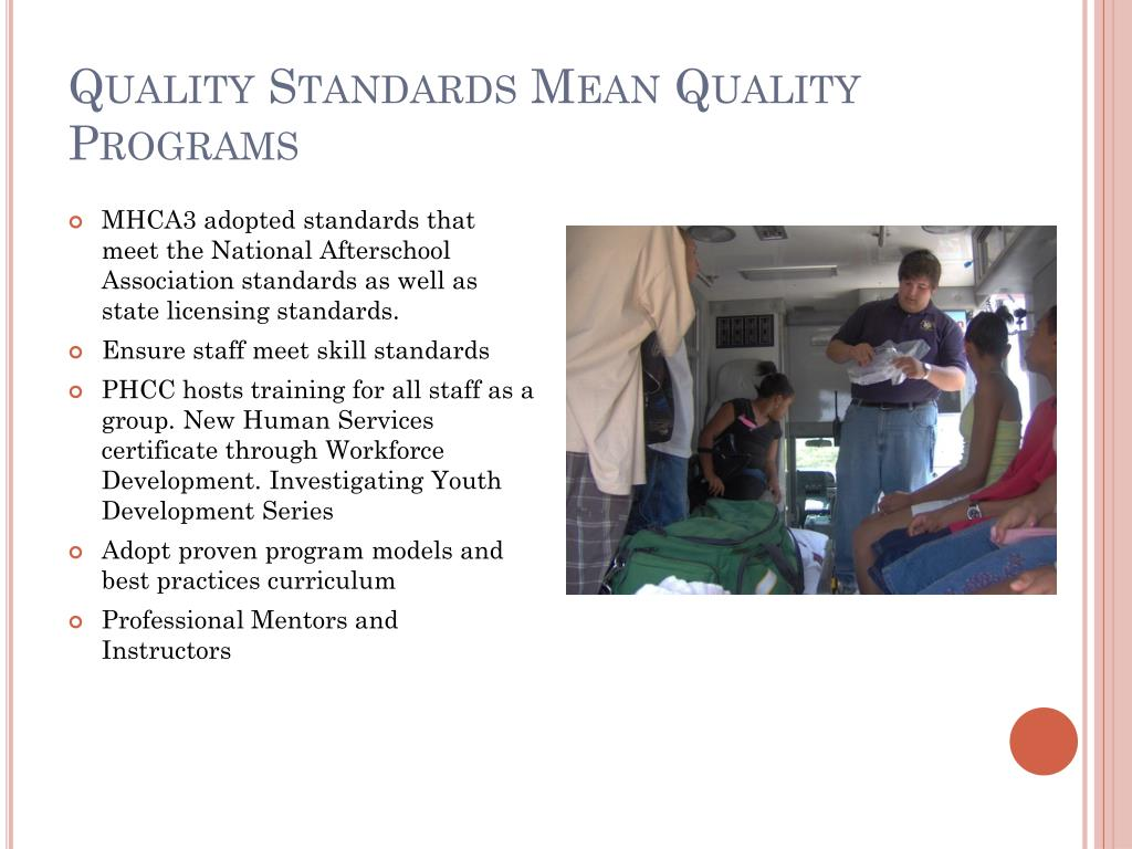 Quality Standards Mean Quality Programs