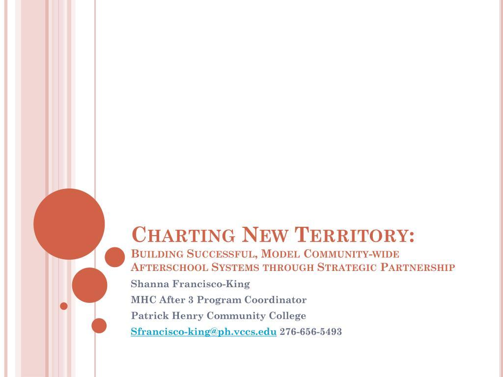 Charting New Territory: