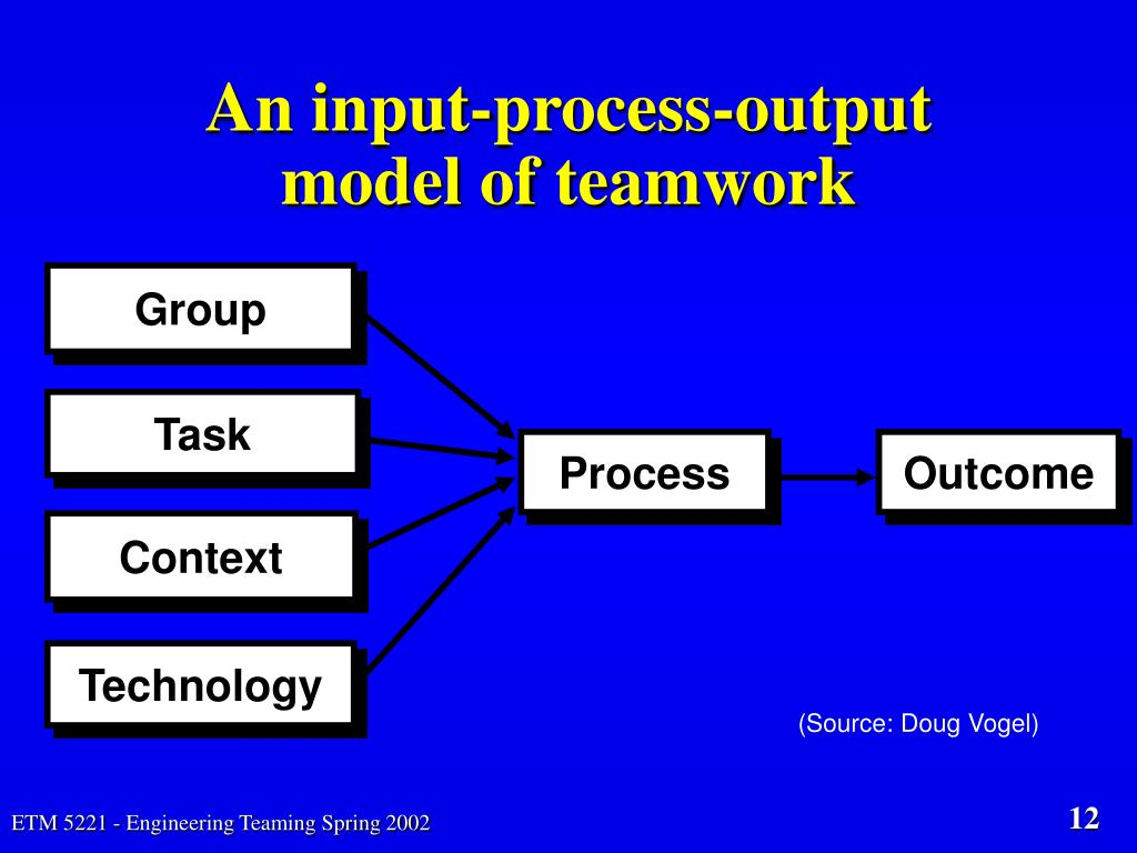 An input-process-output model of teamwork