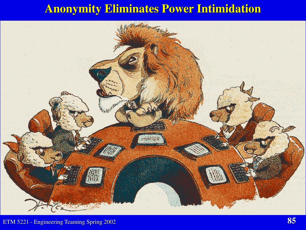 Anonymity Eliminates Power Intimidation