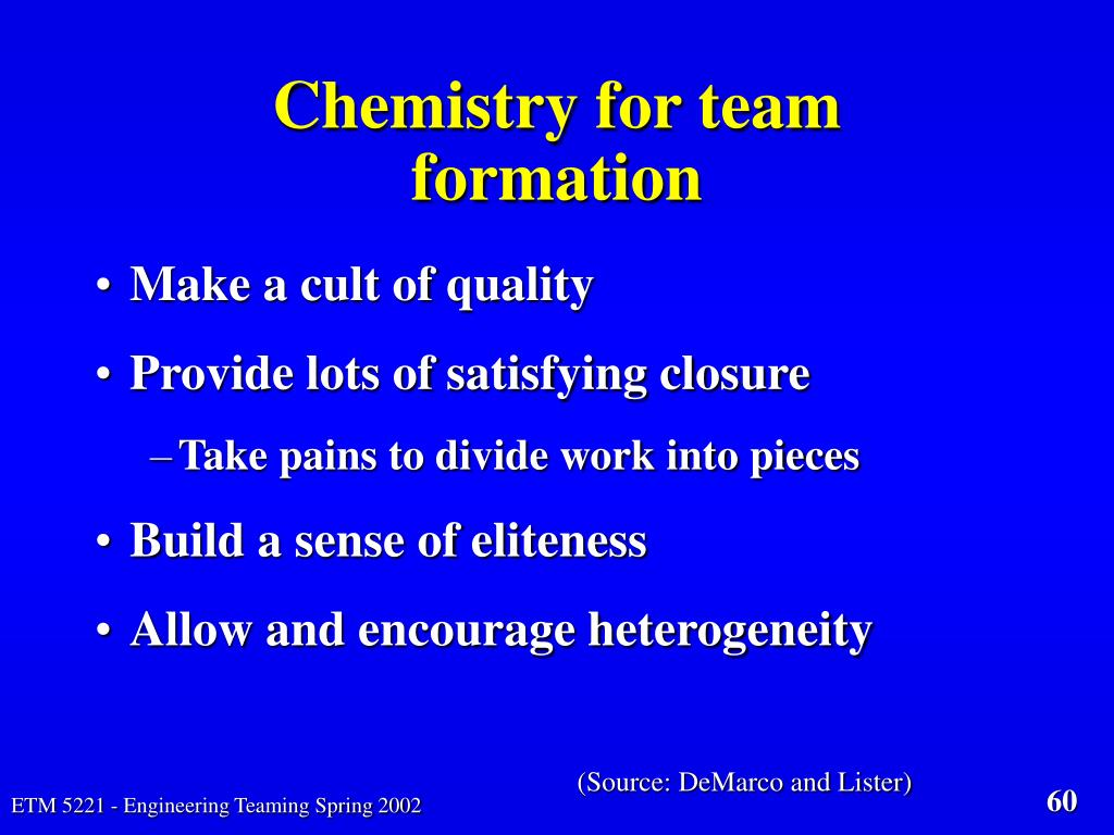 Chemistry for team formation