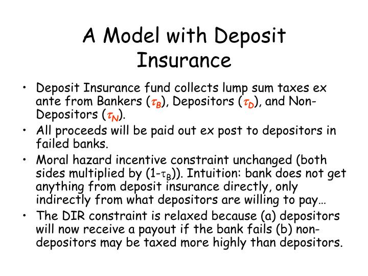 A Model with Deposit Insurance