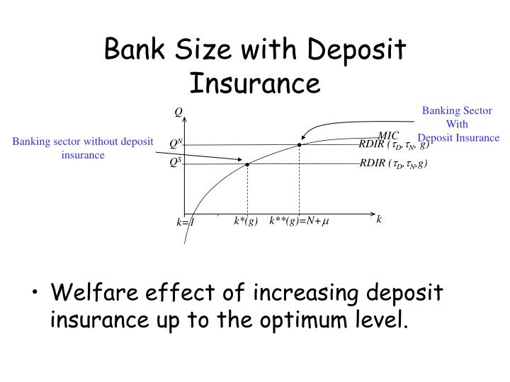 Bank Size with Deposit Insurance