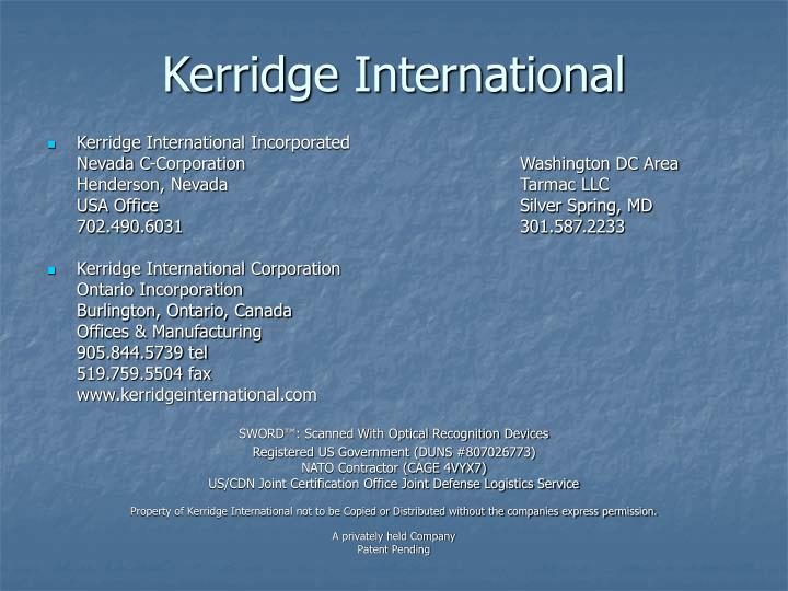 Kerridge International