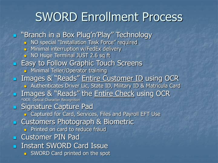 SWORD Enrollment Process