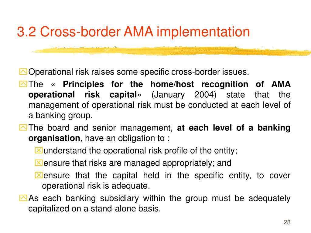 3.2 Cross-border AMA implementation