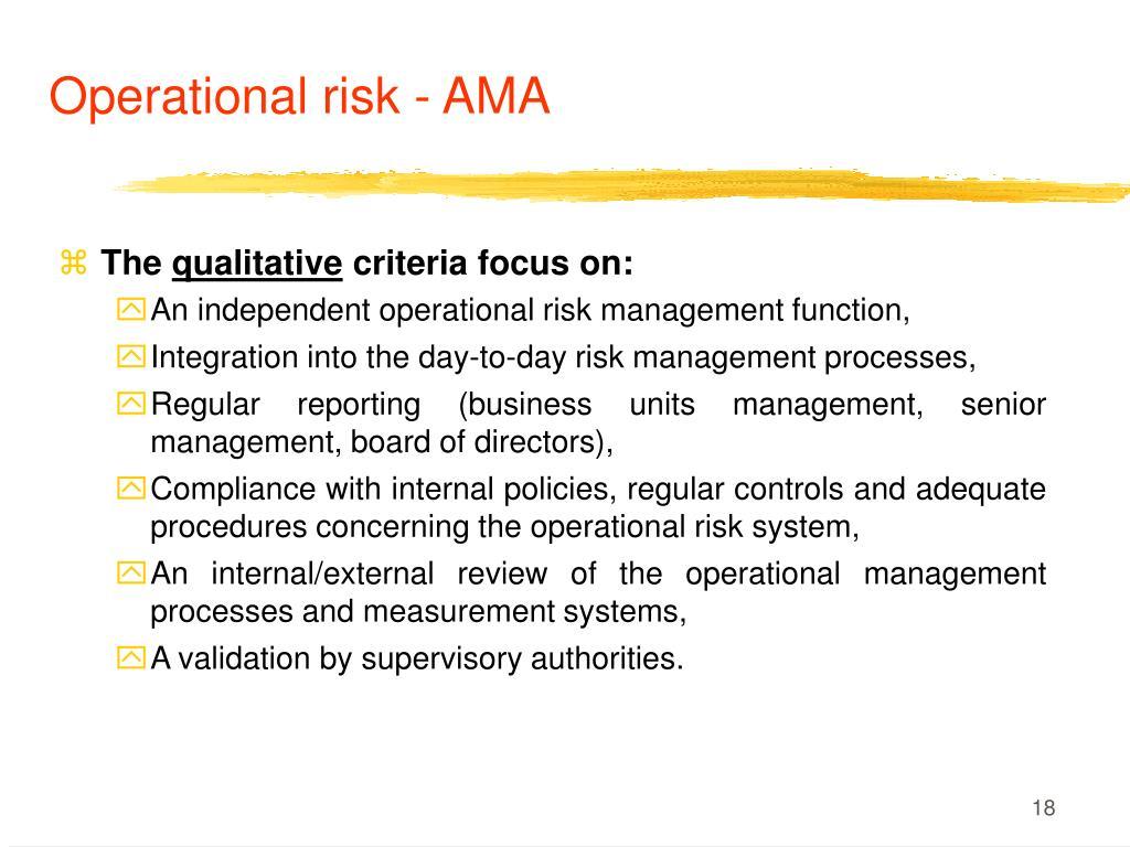 Operational risk - AMA