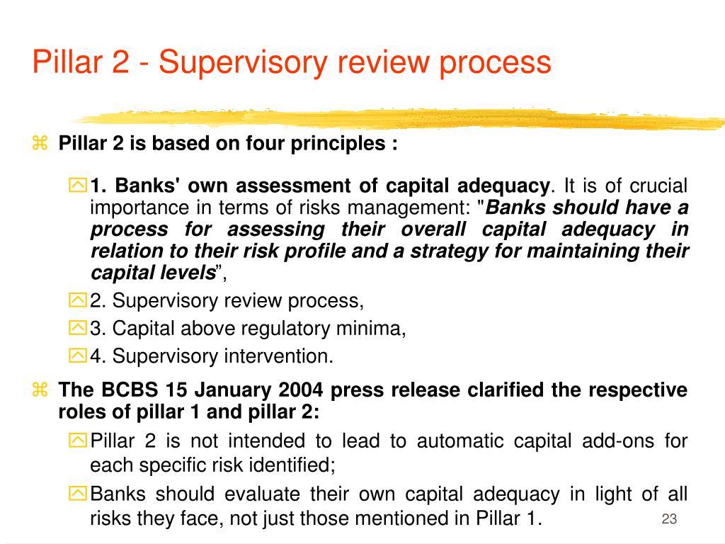 Pillar 2 - Supervisory review process