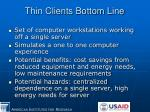 thin clients bottom line