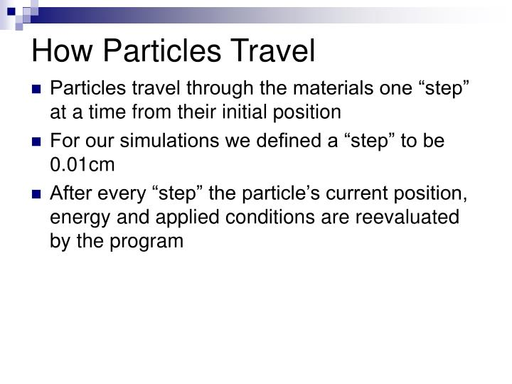 How Particles Travel