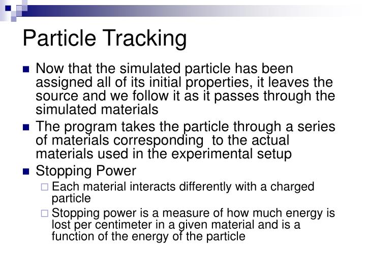 Particle Tracking