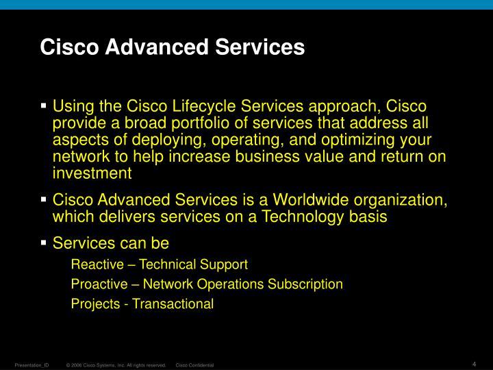 Cisco Advanced Services