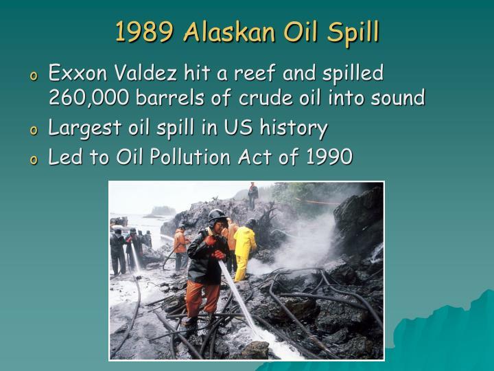 1989 Alaskan Oil Spill