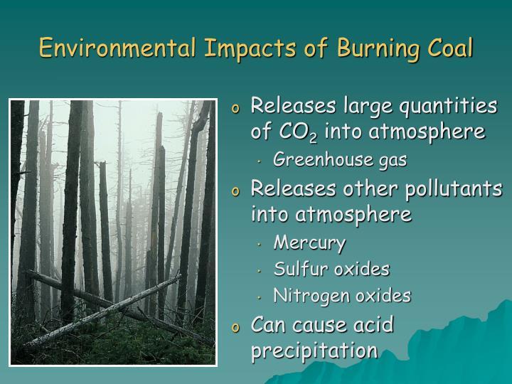 Environmental Impacts of Burning Coal