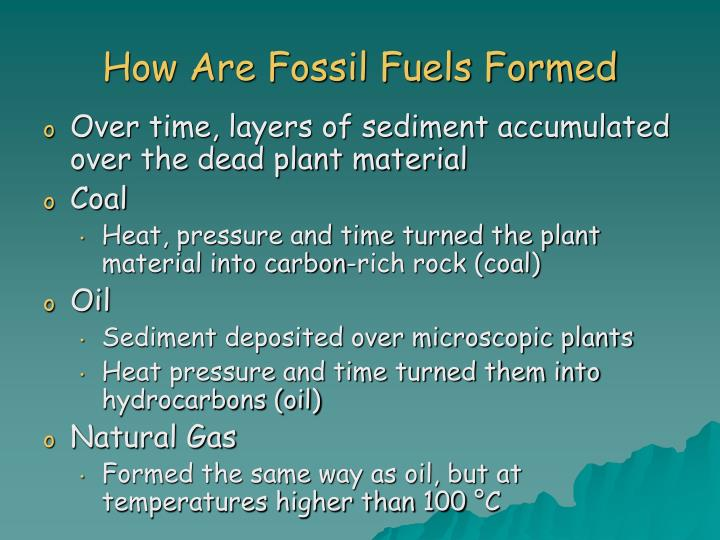 How Are Fossil Fuels Formed