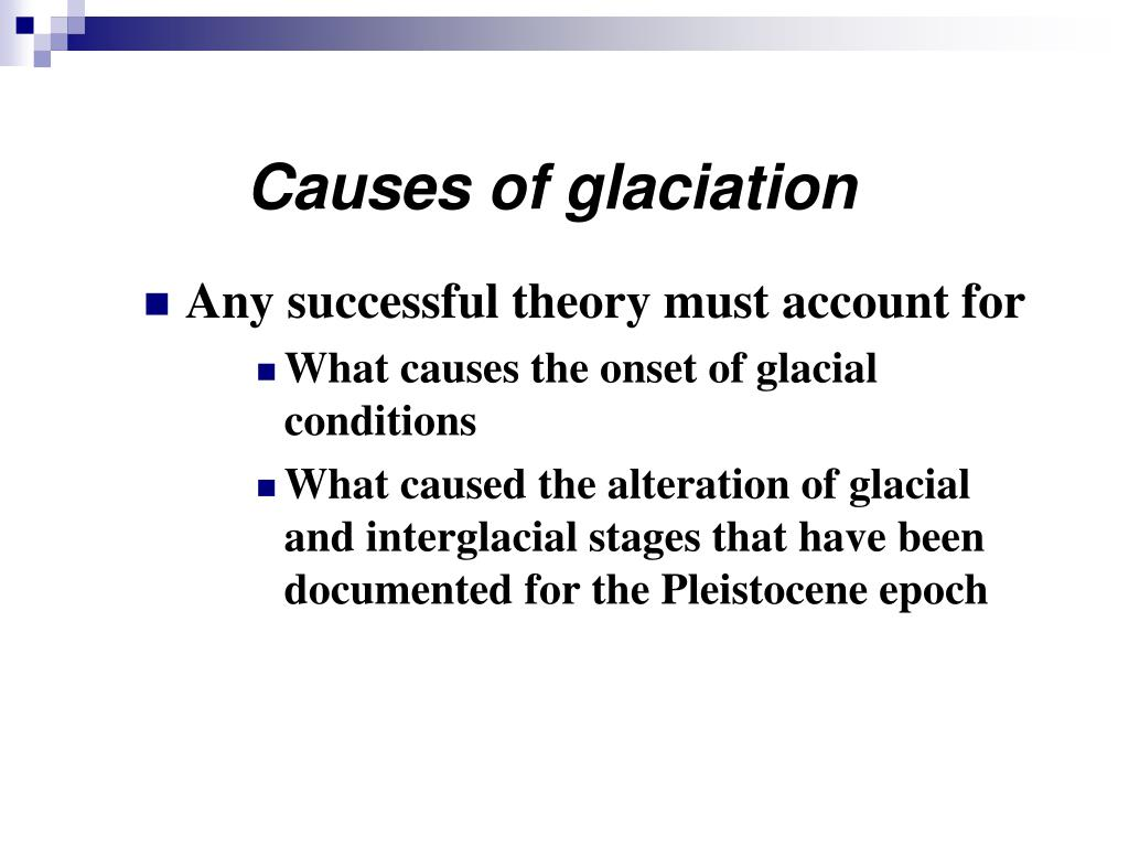 Causes of glaciation