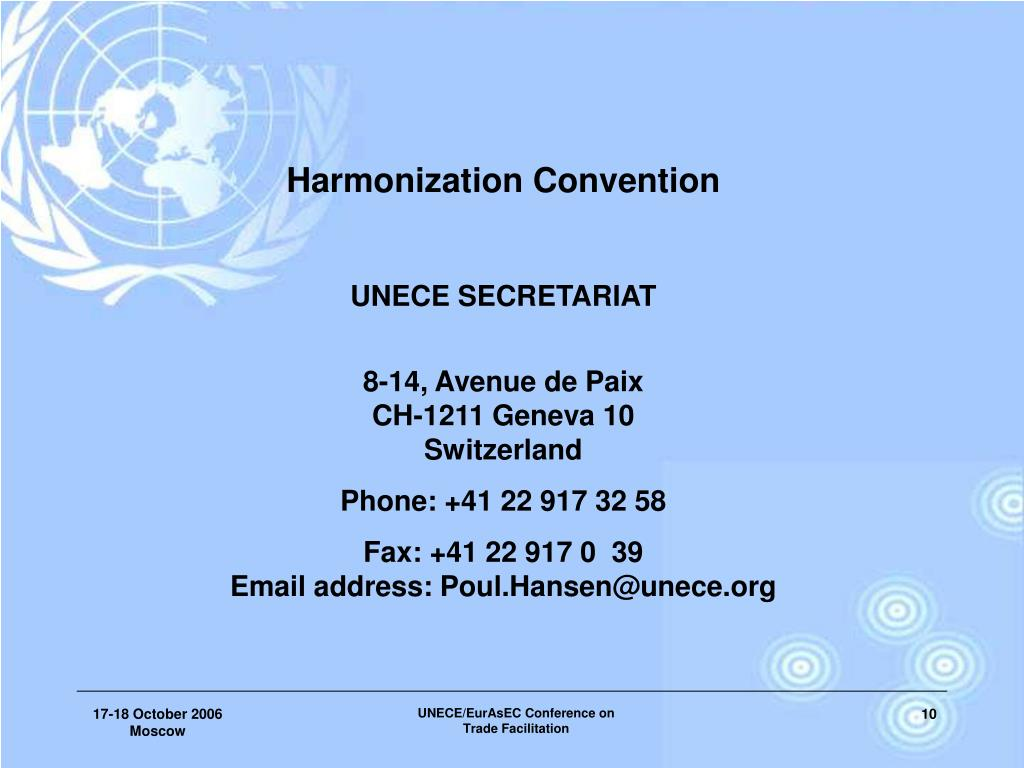 Harmonization Convention