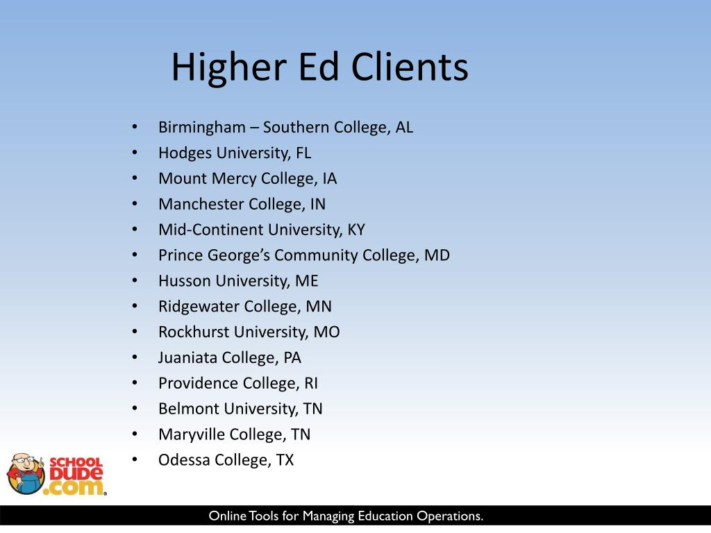 Higher Ed Clients