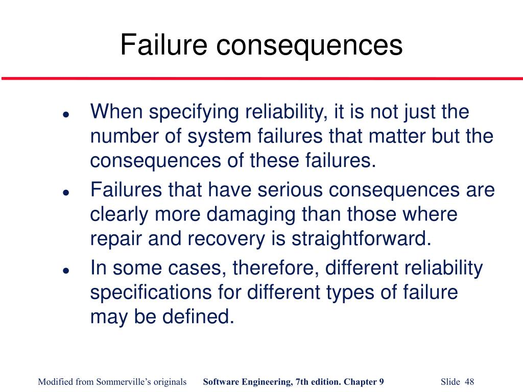 Failure consequences
