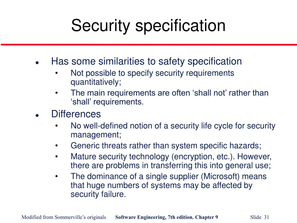 Security specification