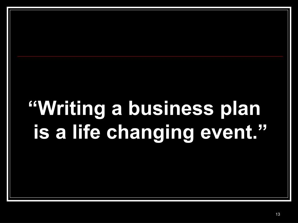 Preparation of business plan presentation