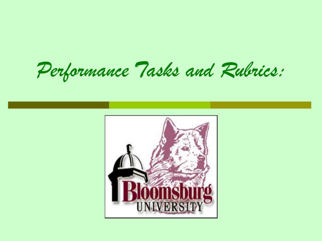 Performance Tasks and Rubrics: