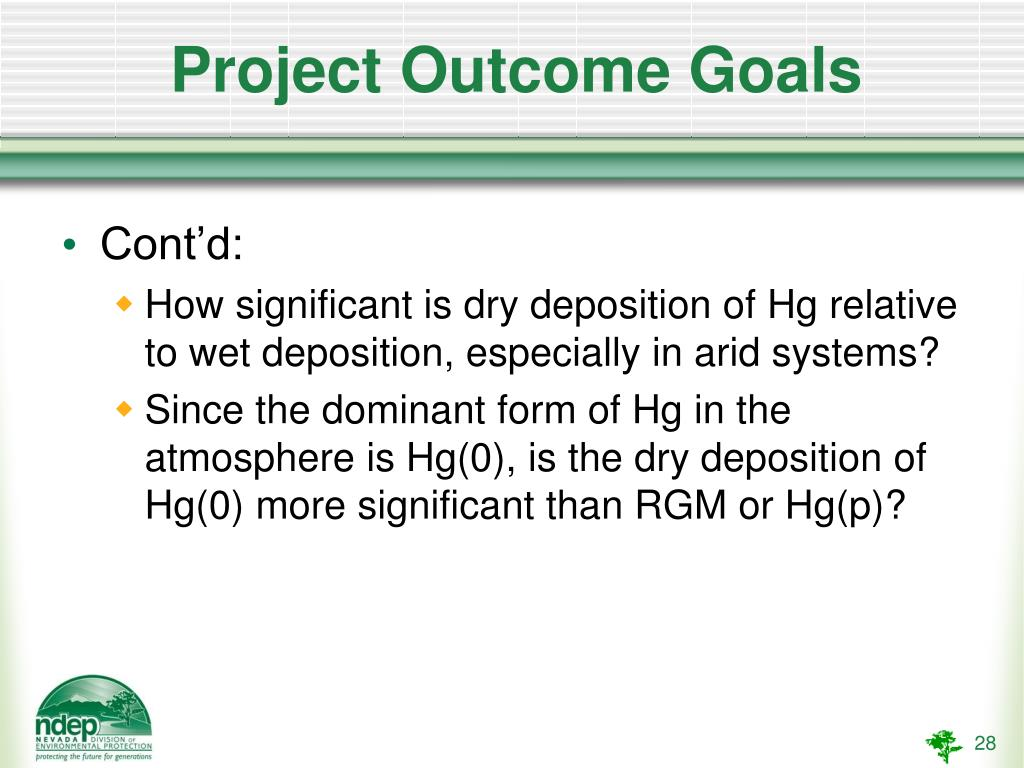 Project Outcome Goals