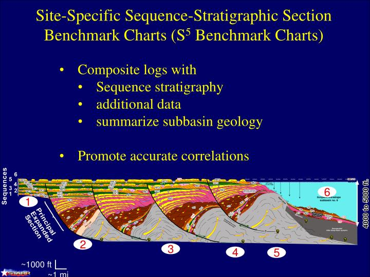 Site-Specific Sequence-Stratigraphic Section Benchmark Charts (S