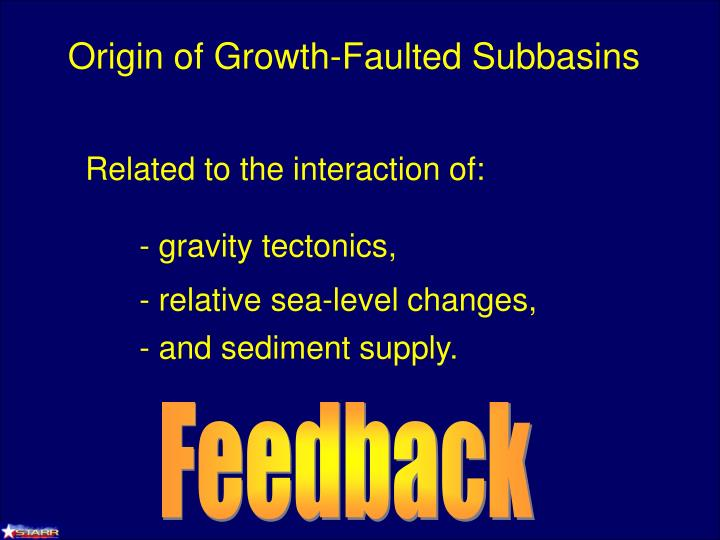 Origin of Growth-Faulted Subbasins