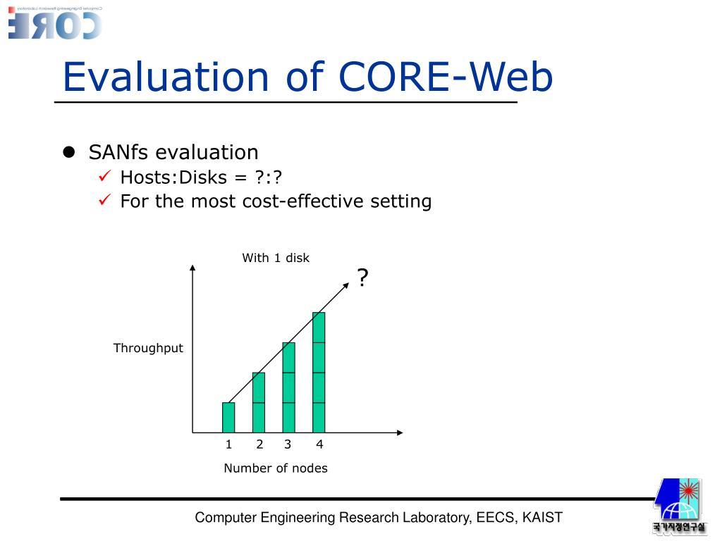 Evaluation of CORE-Web