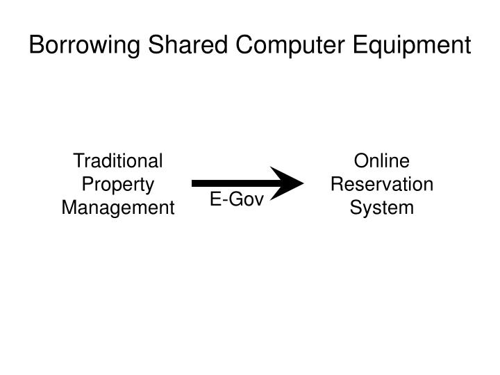 Borrowing shared computer equipment