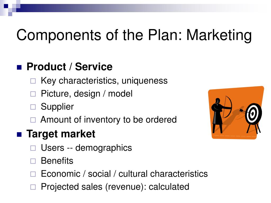 Components of the Plan: Marketing