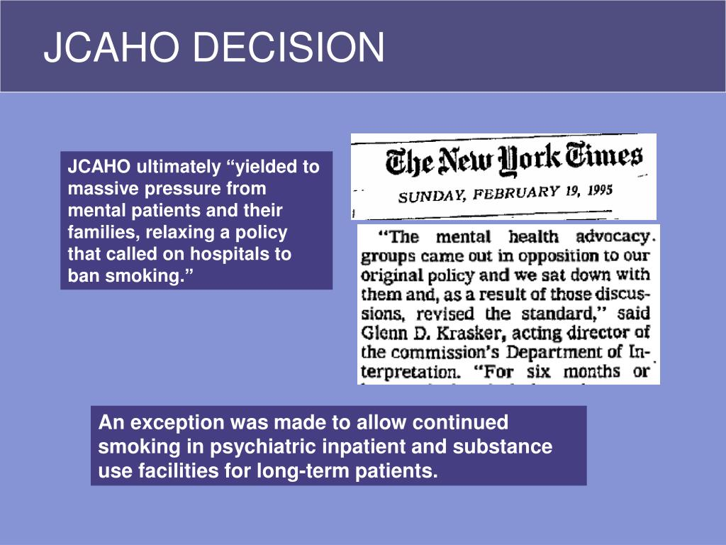 JCAHO DECISION