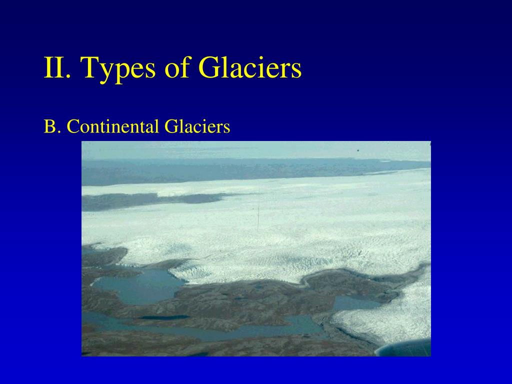 II. Types of Glaciers
