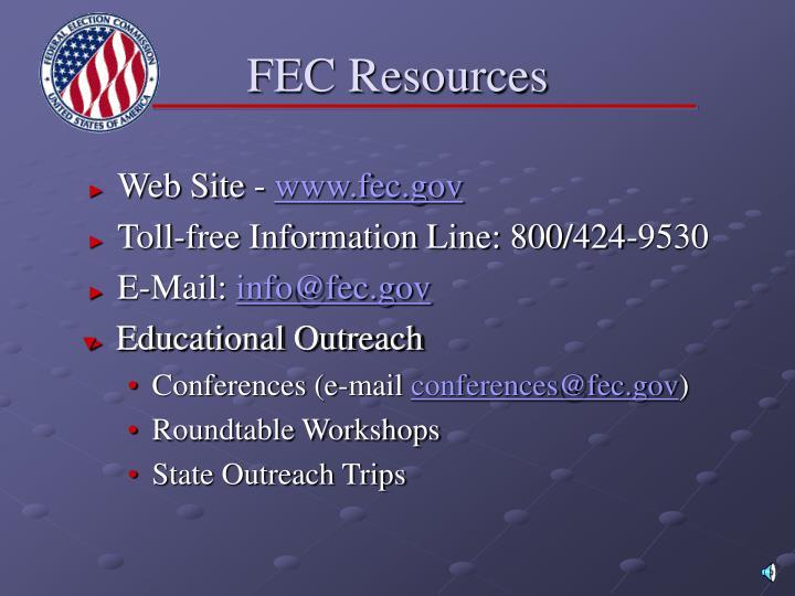 FEC Resources
