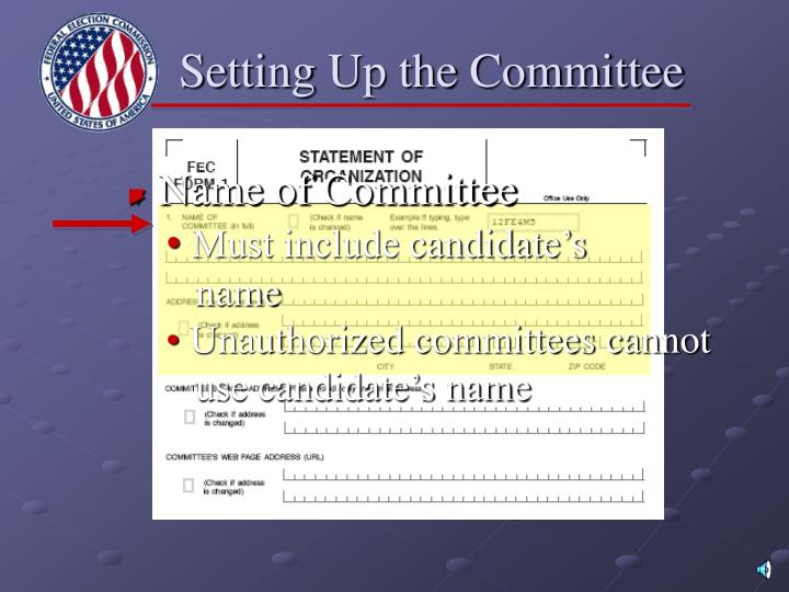 Setting Up the Committee