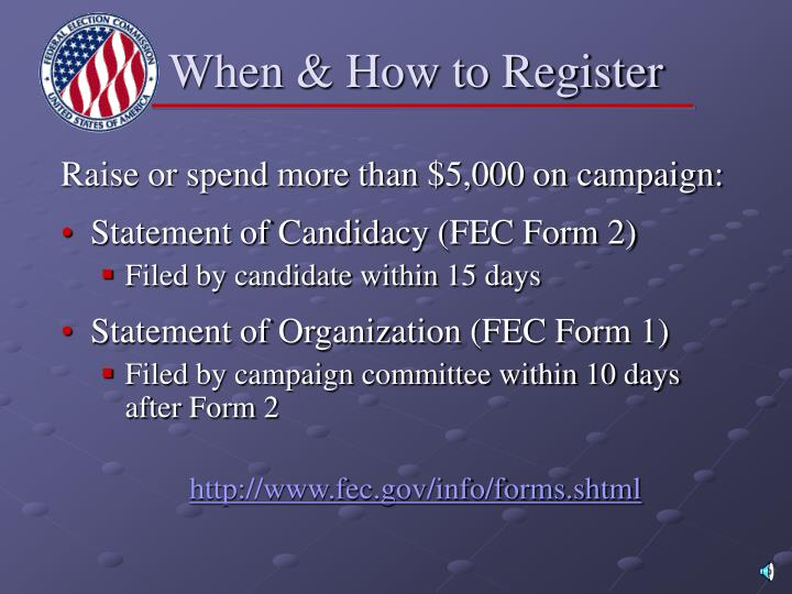 When & How to Register