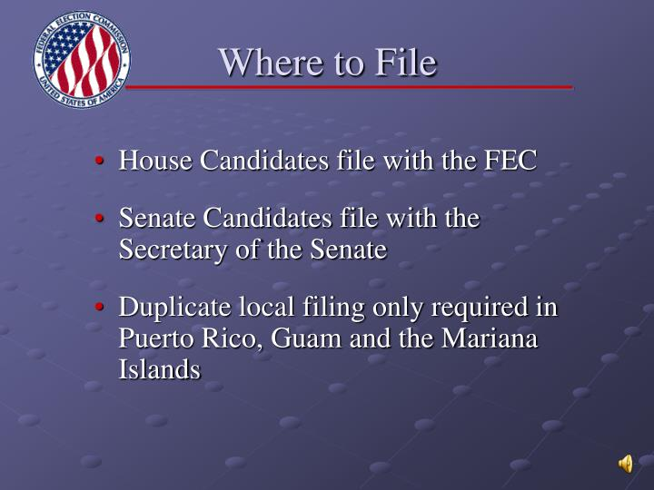 Where to File