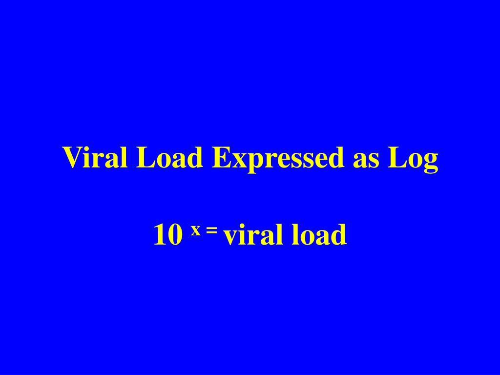 Viral Load Expressed as Log
