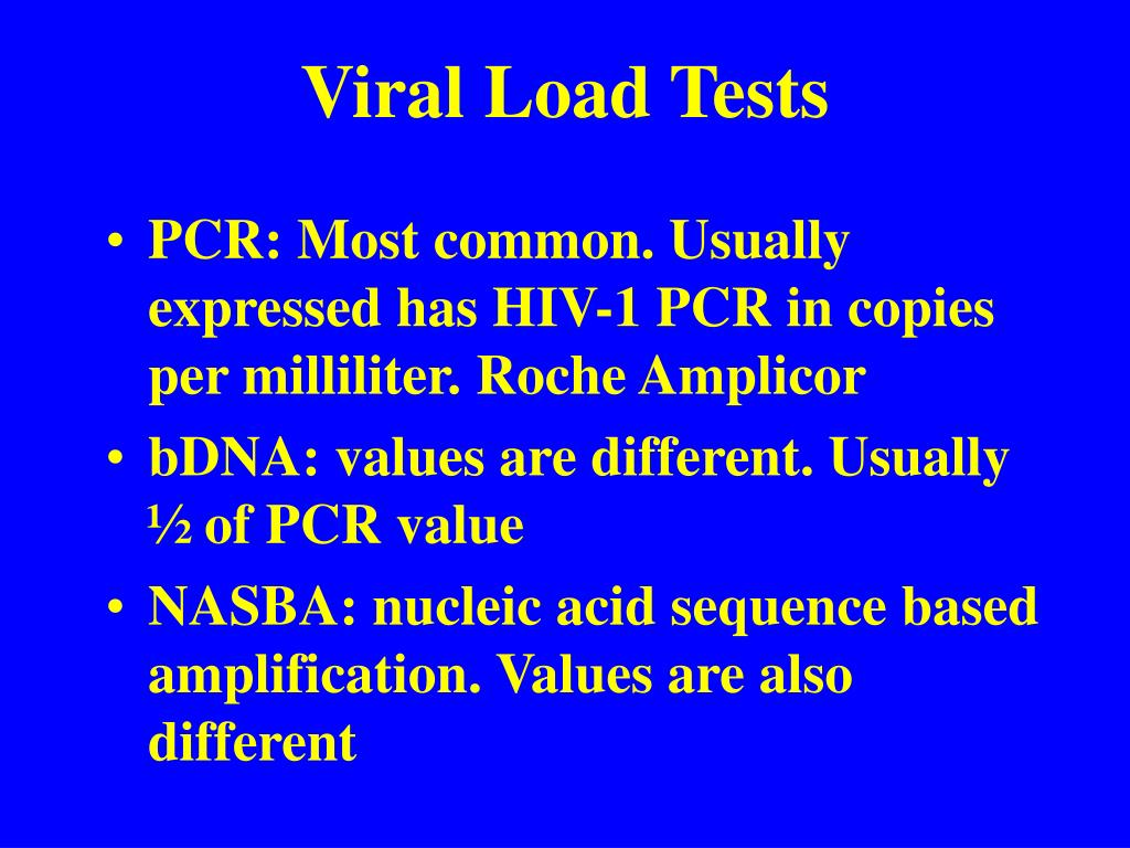 Viral Load Tests