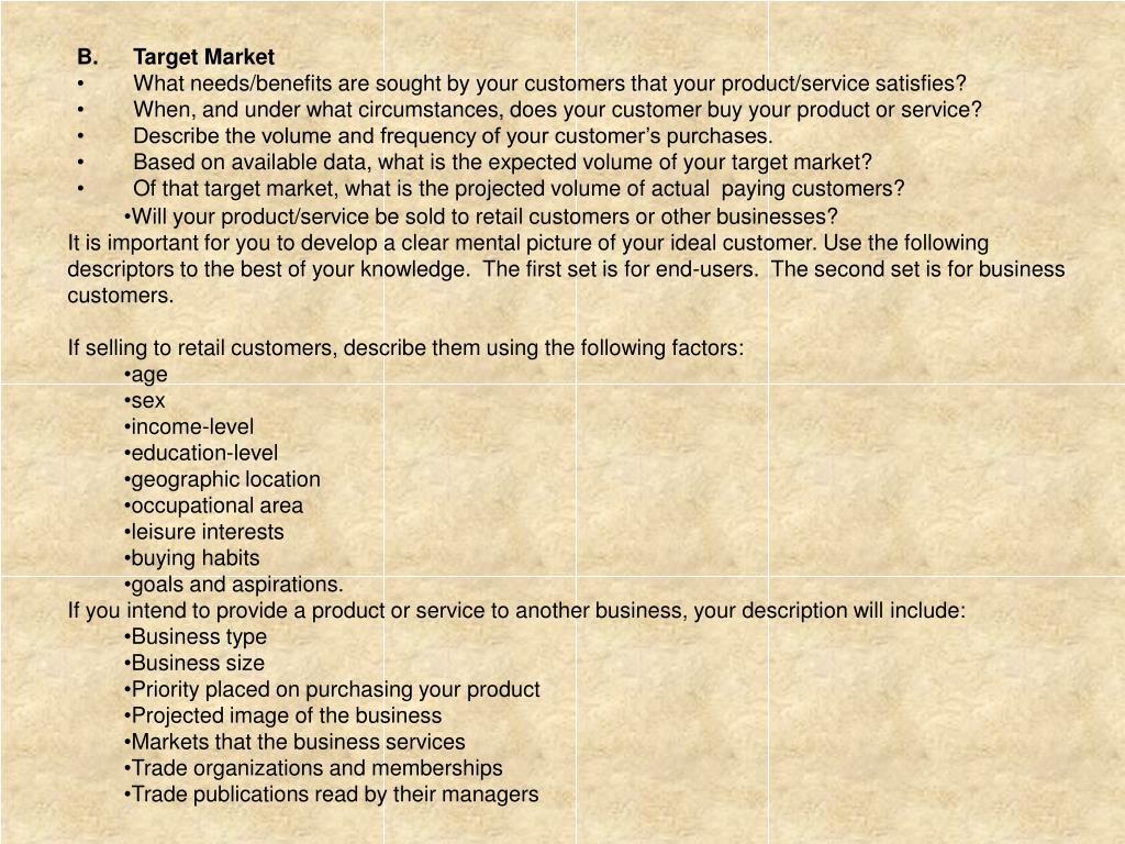 B. Target Market
