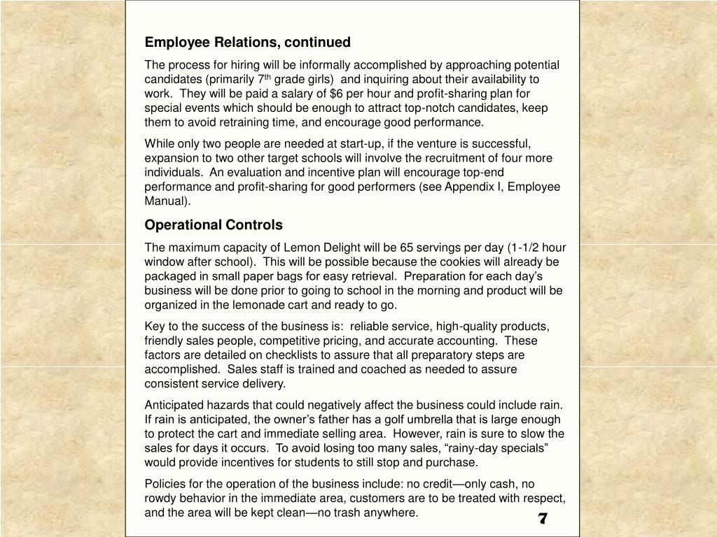 Employee Relations, continued