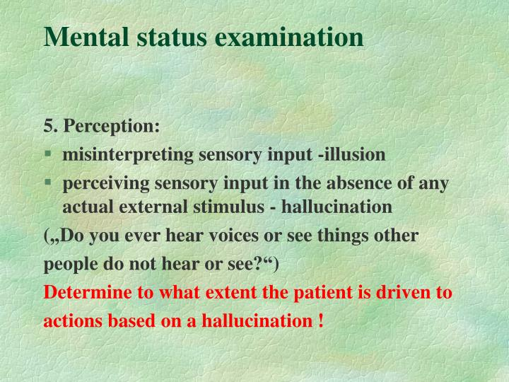 Clinical Interview: Psychiatric History And Mental Status PowerPoint Presentation